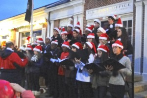 Brien McMahon choral group performing in Rowayton